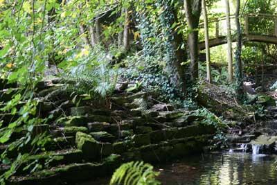Follies in Georgian house garden Monmouthshire