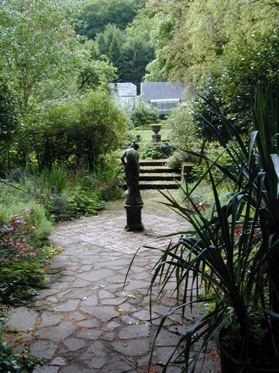 secret garden in woodland setting