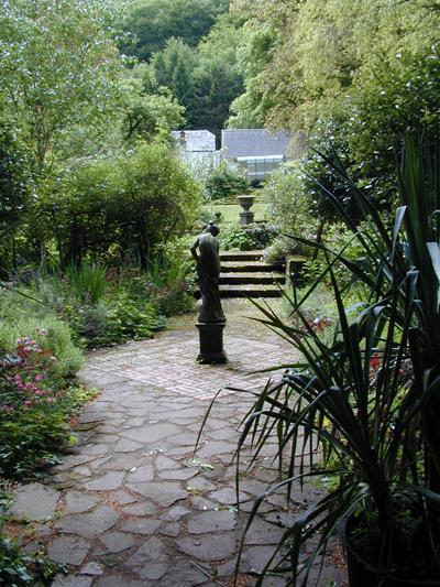 secret garden in woodland setting